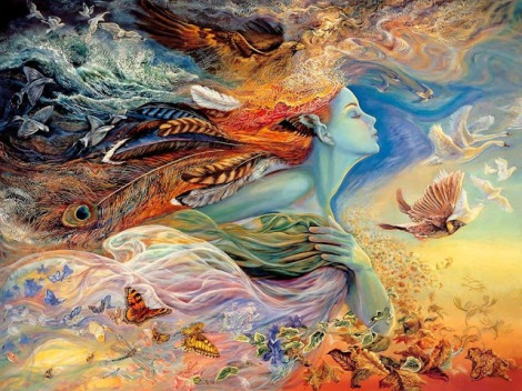 Art by Josephine Wall I picked out a long time ago that now hangs in my Sanctuary.
